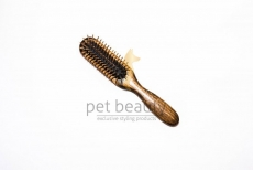 Hundebürste   PET BEAUTY PREMIUM NATUR   schmal   exklusive Hundebürste