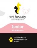 Junior mit zartem Hühnchen und Distelöl | Nassfutter für Hunde | 400g