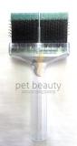 ActiVet Brush MEDIUM grün Flitter 9cm | exklusive Bürsten für Hunde und Katzen