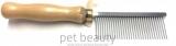Kamm pet beauty - Metall mit Holzgriff, mittel