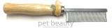 Kamm pet beauty - Metall mit Holzgriff, Floh- und Staubkamm
