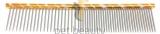Pet Beauty Grooming Frisierkamm 16cm, 50/50 grob/fein gezahnt, gold