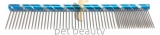 Pet Beauty Grooming Frisierkamm 20cm, 80/20 grob/fein gezahnt, blau