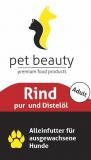 Rind purund Distelöl   Nassfutter für Hunde   400g