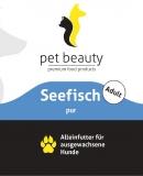 Seefisch pur | Alleinfutter für ausgewachsene Hunde | 400g