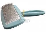 DoggyMan | Soft Slicker Brush groß blau | exklusive Bürsten für Hunde und Katzen