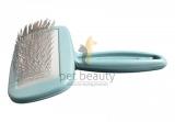 DoggyMan | Soft Slicker Brush klein blau | exklusive Bürsten für Hunde und Katzen