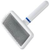 DoggyMan | Soft Slicker Brush medium weiß | exklusive Bürsten für Hunde und Katzen