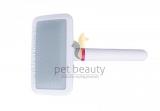 DoggyMan | Soft Slicker Brush klein weiß | exklusive Bürsten für Hunde und Katzen