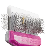ActiVet Pro TuffFinishcoater MEGA 9 cm lila/silber | exklusive Bürsten für Hunde und Katzen